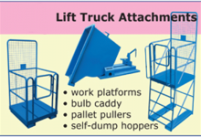Canway lift truck attachments