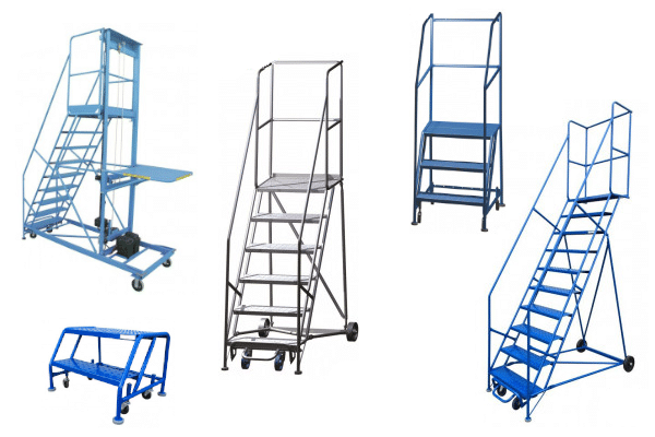 Industrial rolling ladders