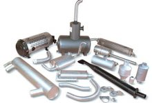 mufflers, exhaust pipes,