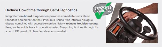 Unicarriers self diagnostics
