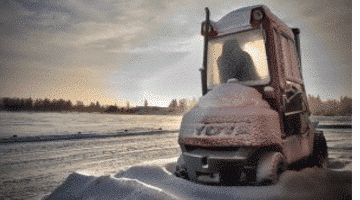 Forklift winter