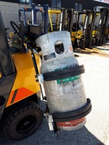 Liu Gong Forklift LPG Tankbracket
