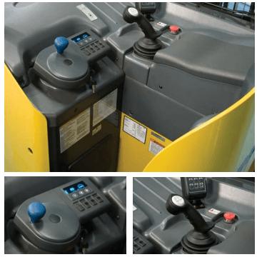 Komatsu forklift controls