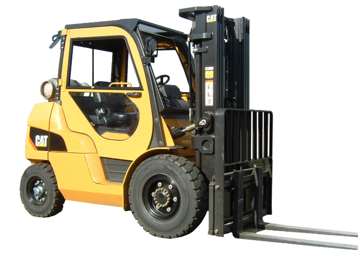 Caterpillar forklift with cab