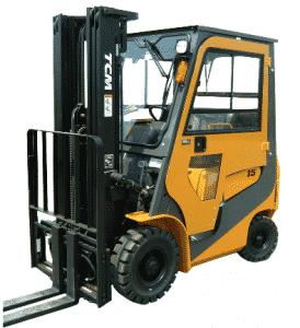 TCM Forklift with cab